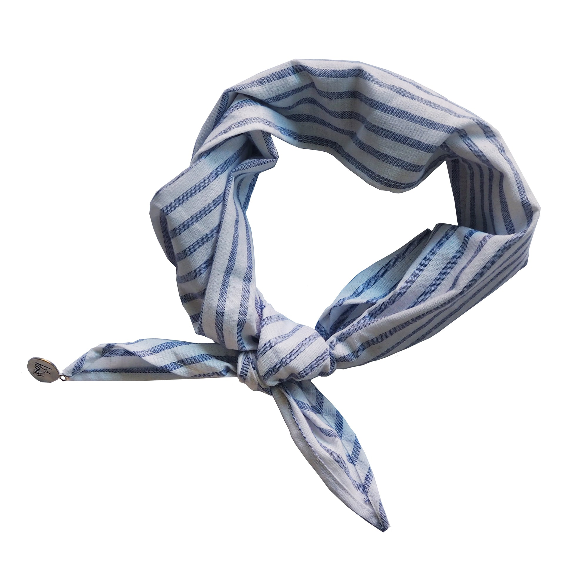 LINEN MARY-LOU BANDANA - BLUE