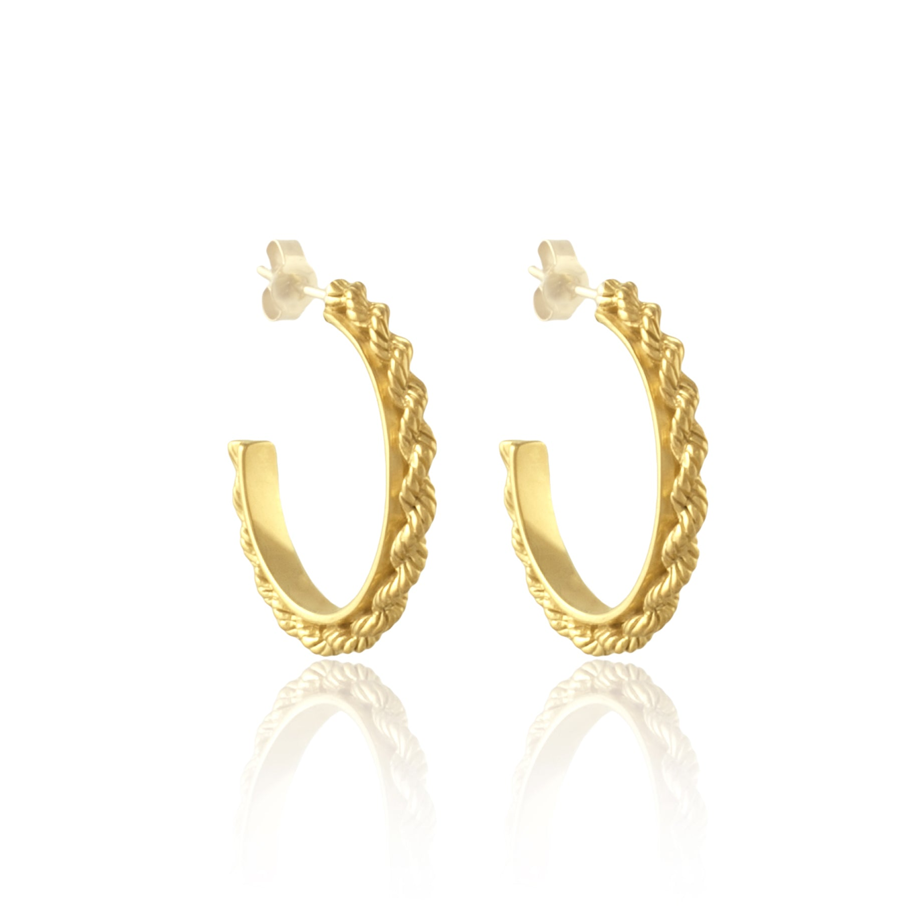 Del Carmen Twisted Hoops Luna and Rose Jewellery