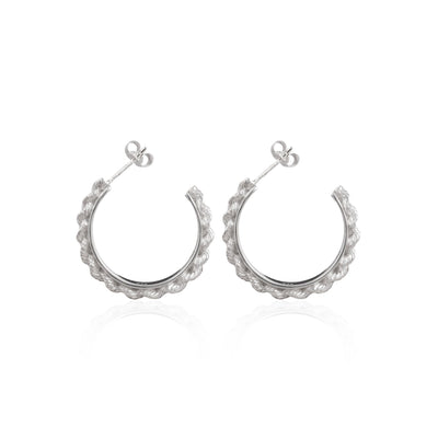 Luna & Rose Del Carmen Hoops in Recycled Sterling Silver