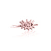 La Luna Rose Eye Charm Ring - Rose Gold