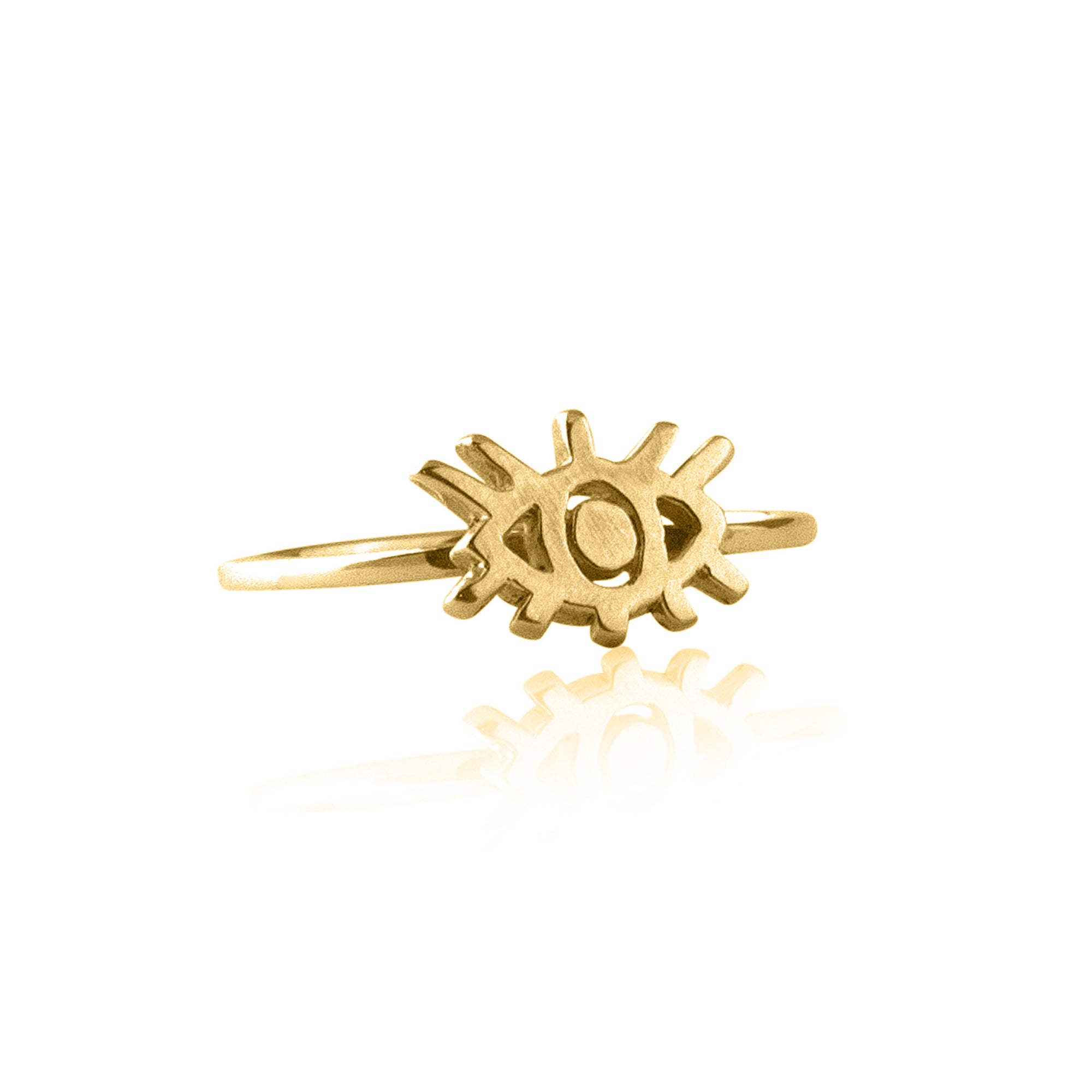 La Luna Rose Golden Eye Charm Ring