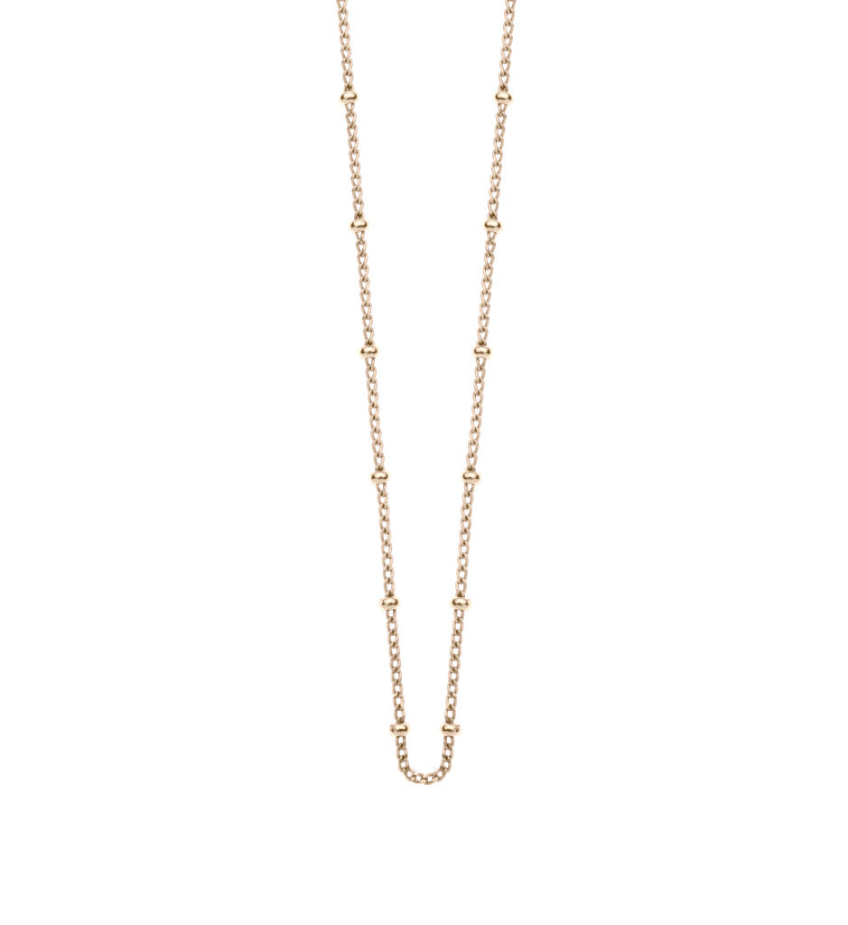 La Luna Rose Jewellery Fine Ball Fashion Chain - Gold