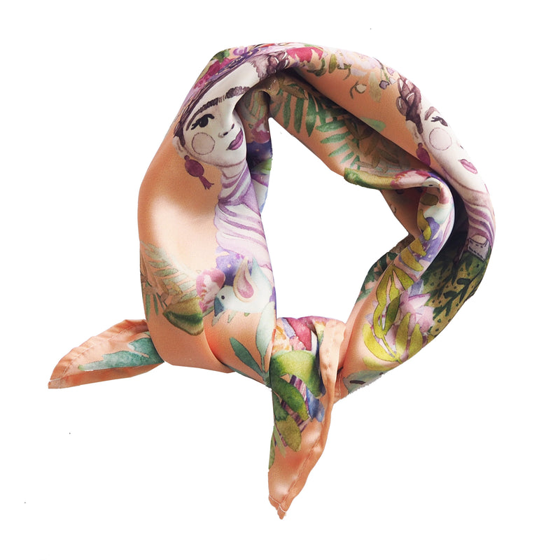 MAGDALENA SELF PORTRAIT NECK SCARF - PEACH