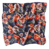 Luna and Rose flores Rose Printed Neck Scarf in Deep Sea Blue