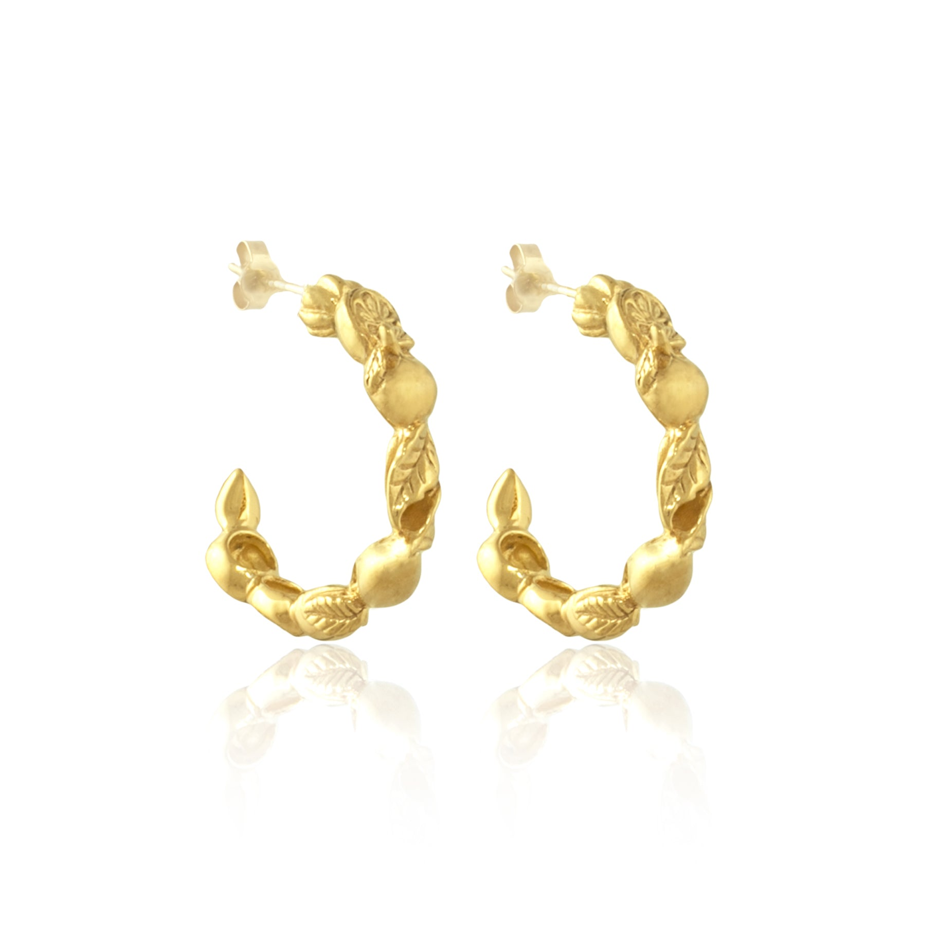 Luna & Rose Frutas Loops in Gold Jewellery