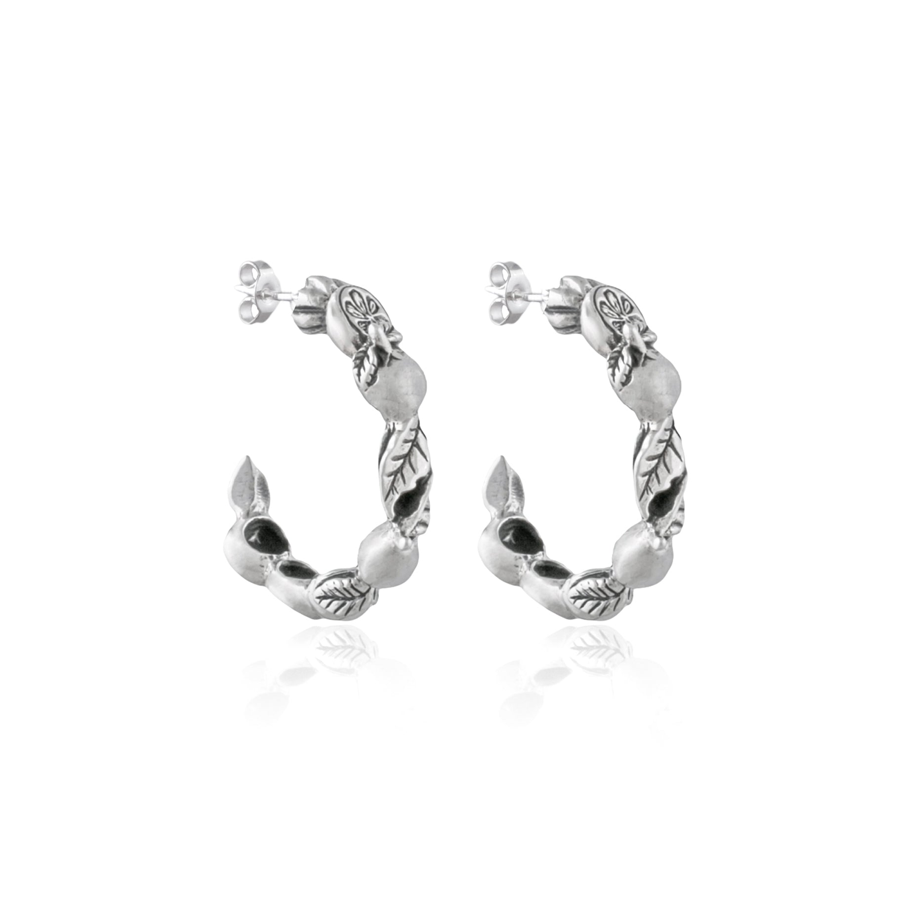 Luna and Rose Jewellery FRUTAS LOOPS - SILVER