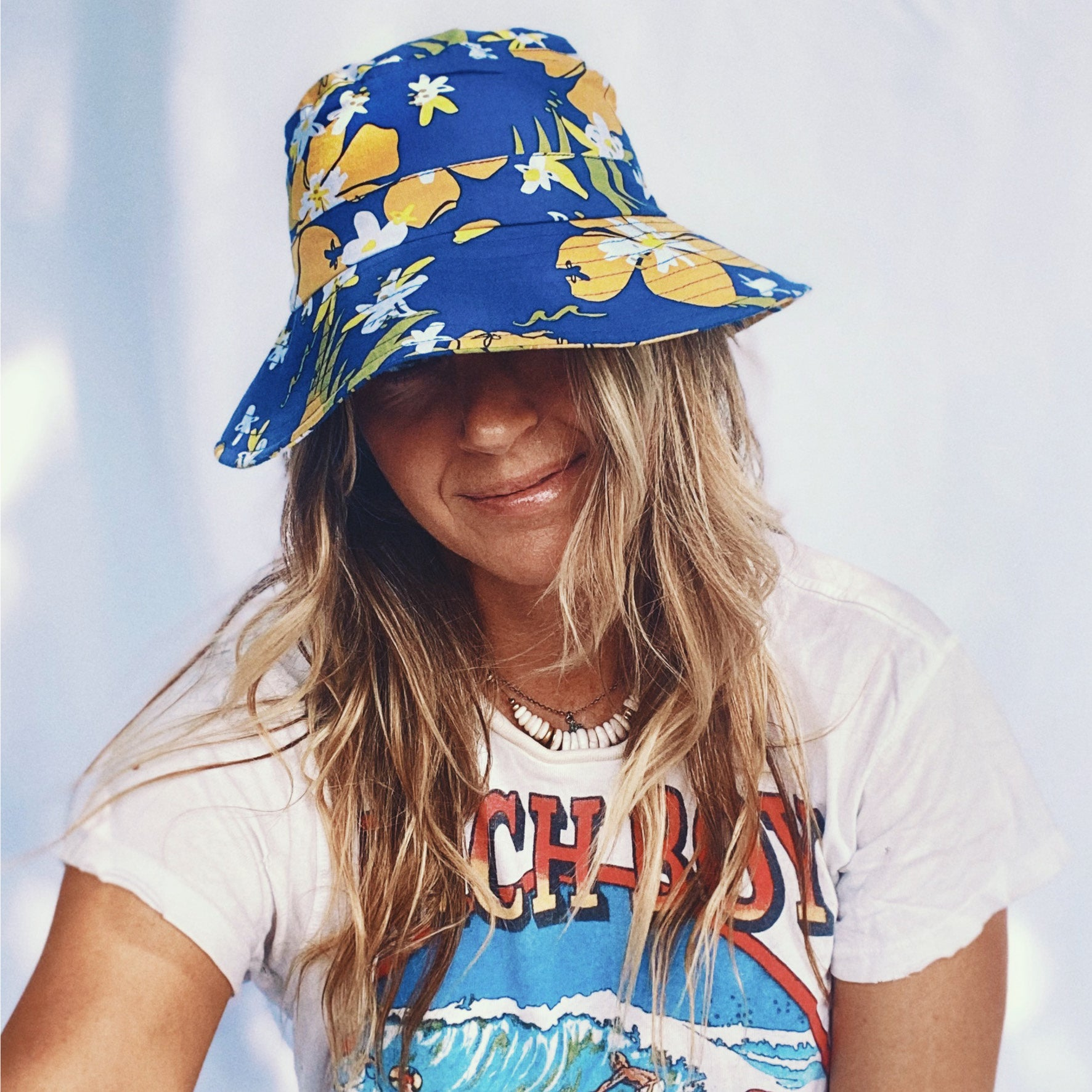 Goldfish Kiss x Luna & Rose Bucket Hat Blue Crush print