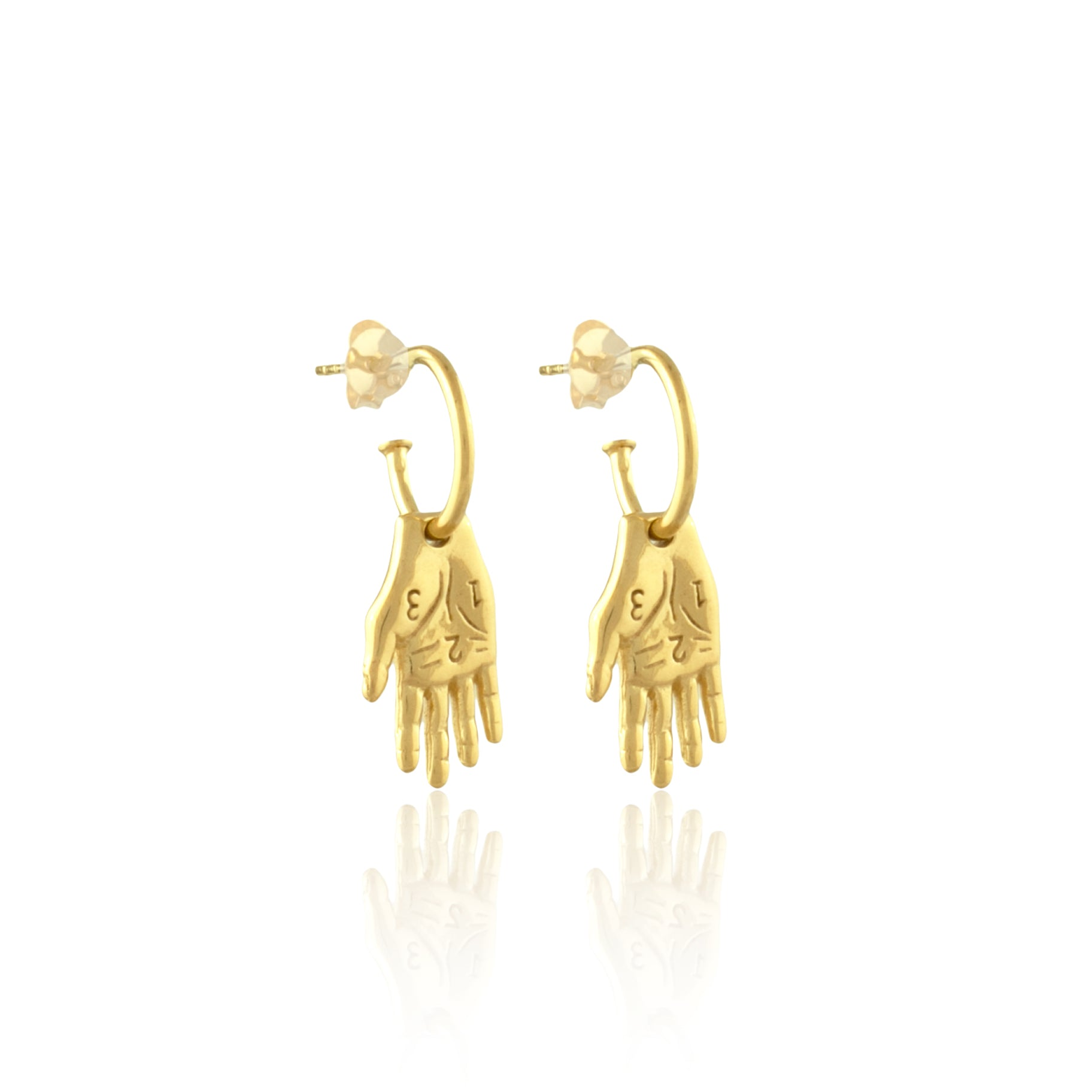 Mano Amiga Hand Earrings Frida Kahlo Collection Luna Rose