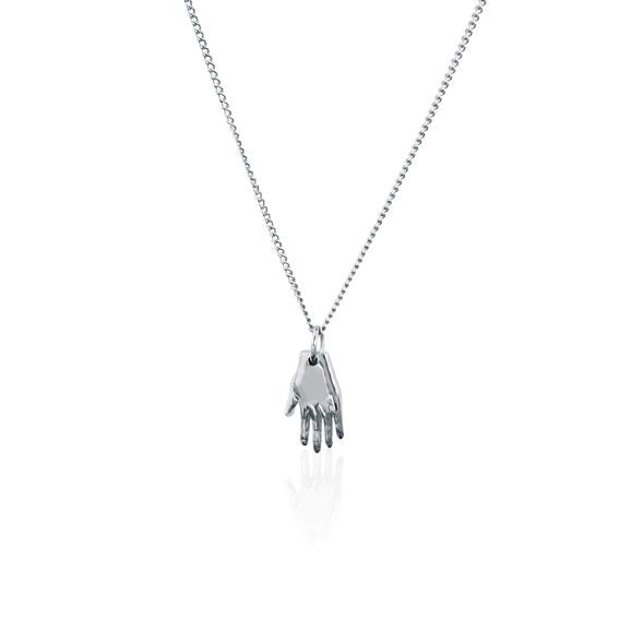 Mano Amiga Silver Hand Necklace inspired by Frida Kahlo Luna and Rose Jewellery