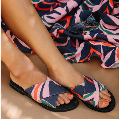LA LUNA ROSE CHARLIE SANDALS - PENIDA PALM 'BLUE'
