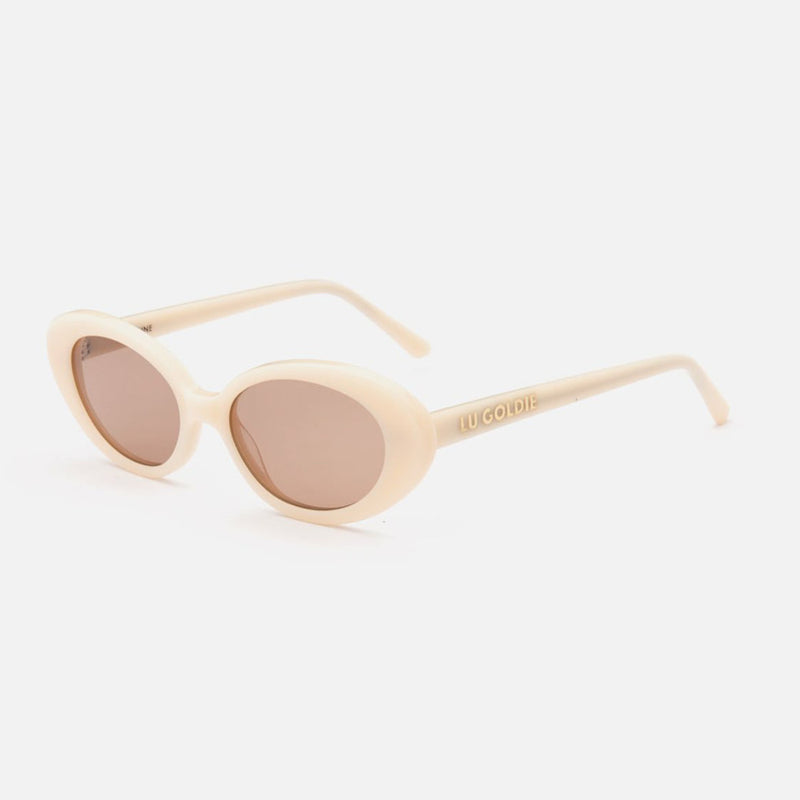 Lu Goldie - Jeanne Cream Sunglasses