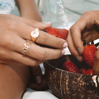 COCO ring in sterling Silver by Coconut and Bliss Influencer