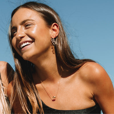 Coco Earrings in 18kt Gold by Coconut & Bliss Influencer Australia