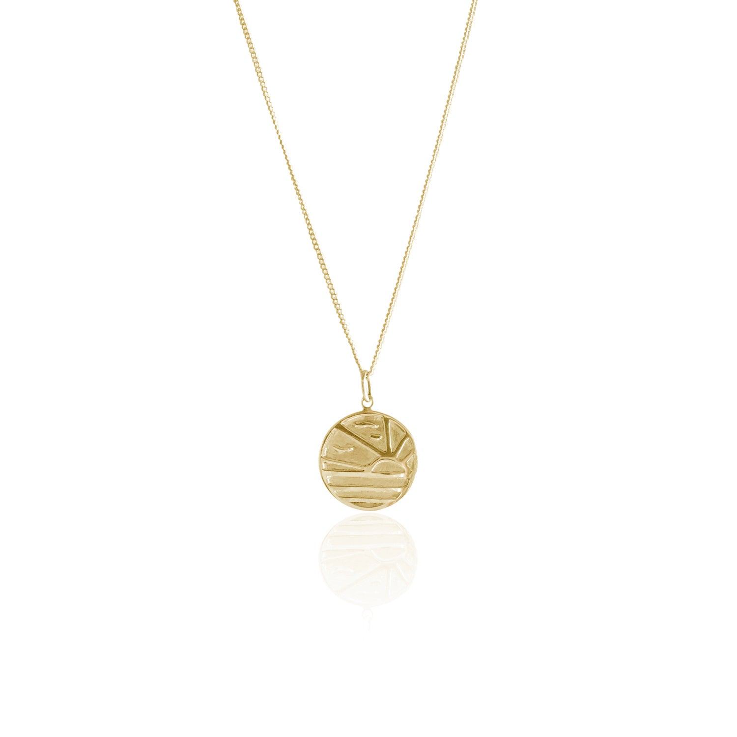 GOLDFISH KISS x LA LUNA ROSE SUNSET NECKLACE (Gold)