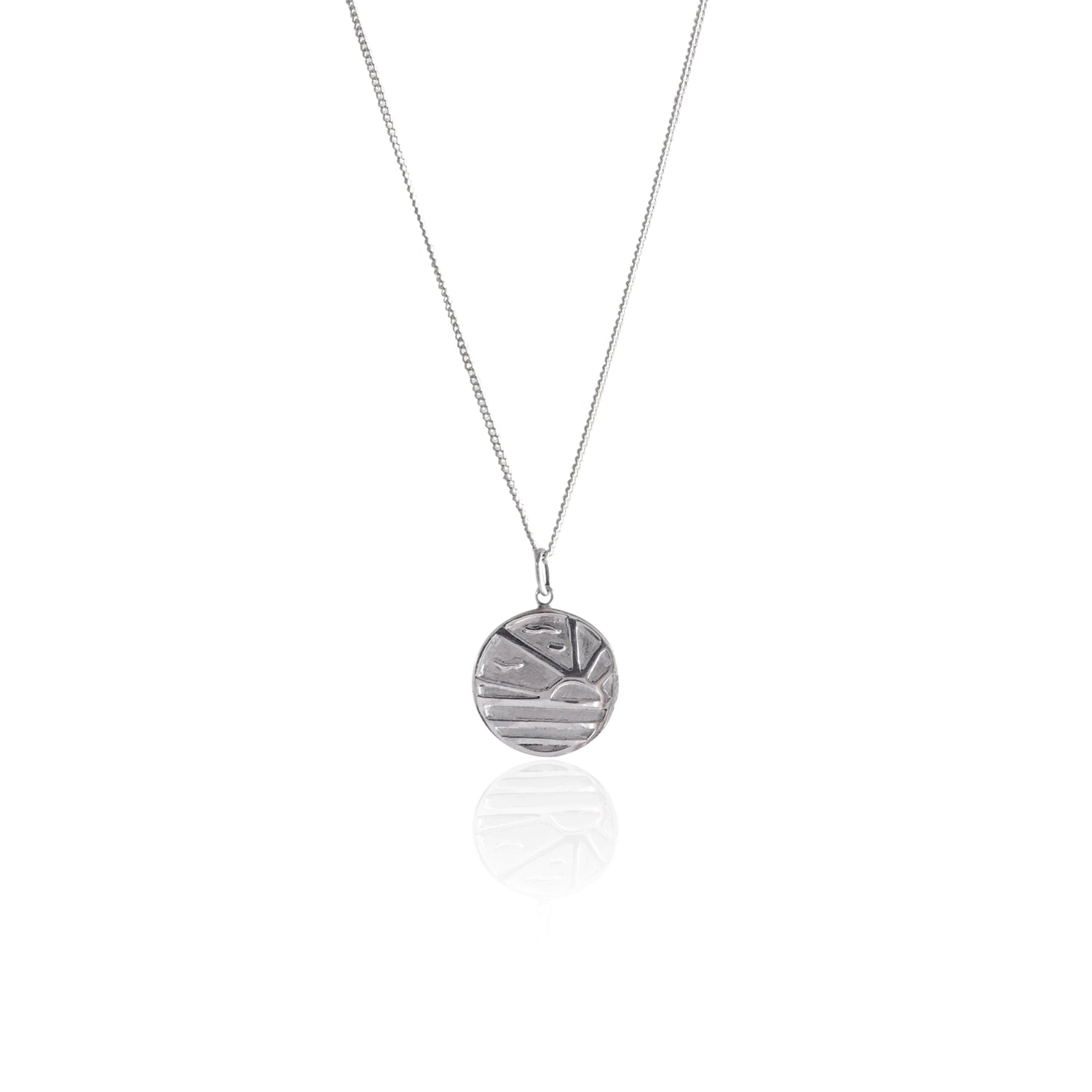 GOLDFISH KISS x LA LUNA ROSE SUNSET NECKLACE (Silver)