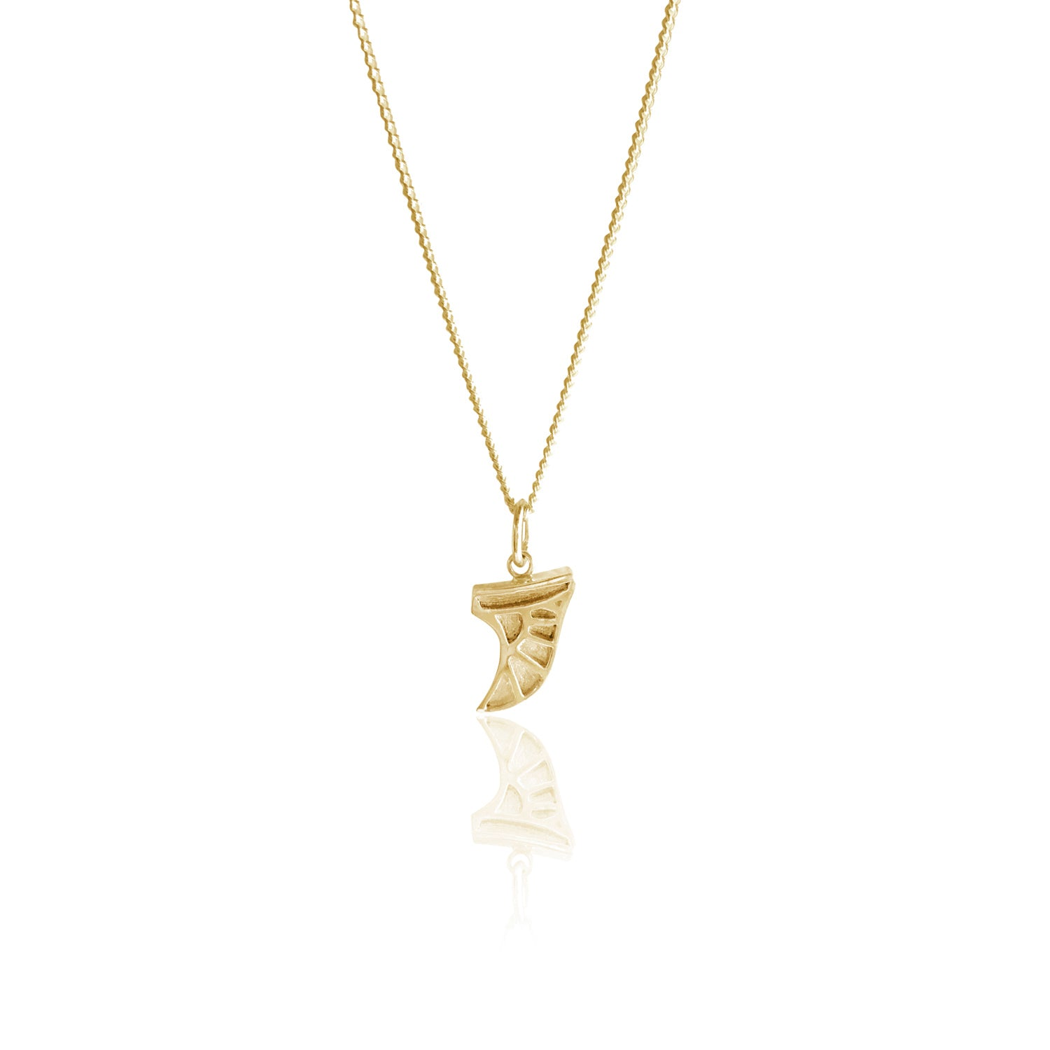 GOLDFISH KISS x LUNA & ROSE SURF FIN NECKLACE (Gold)