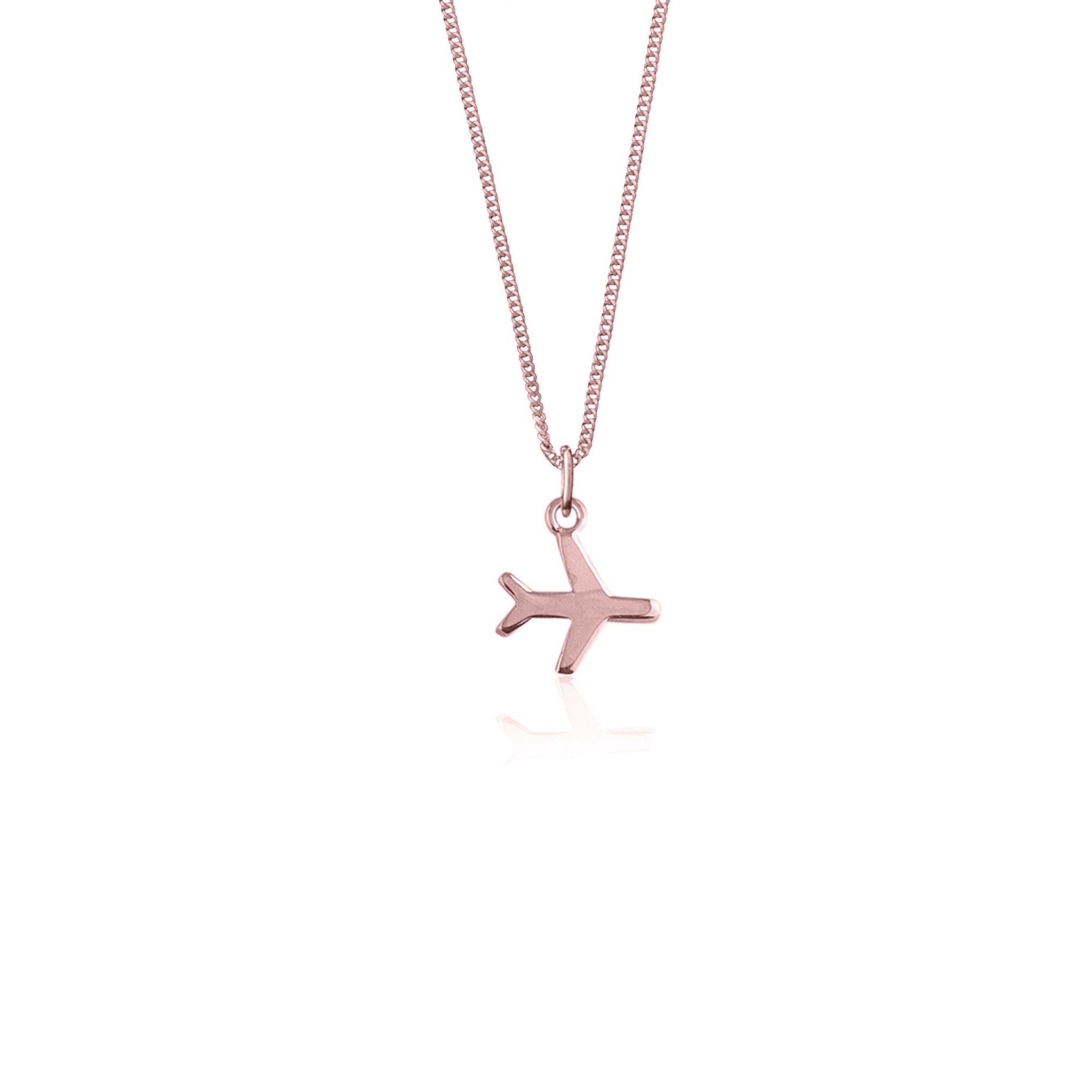 Just Plane Adventurous Necklace (Rose Gold)