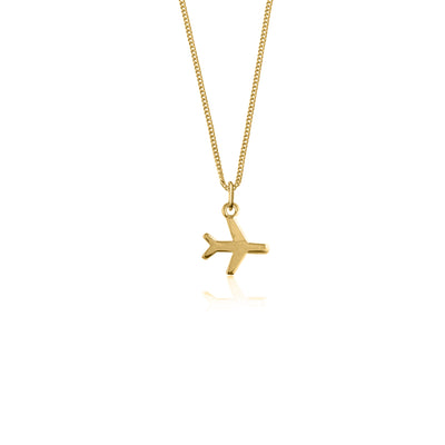 Just Plane Adventurous Necklace Charm - Gold