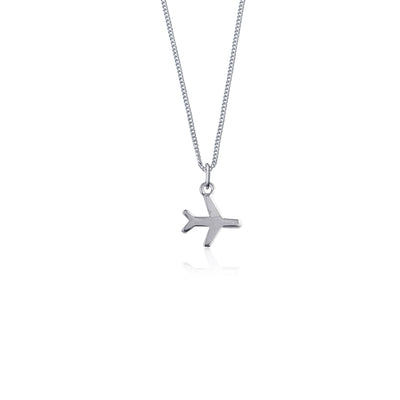 Just Plane Adventurous Charm Necklace - Silver