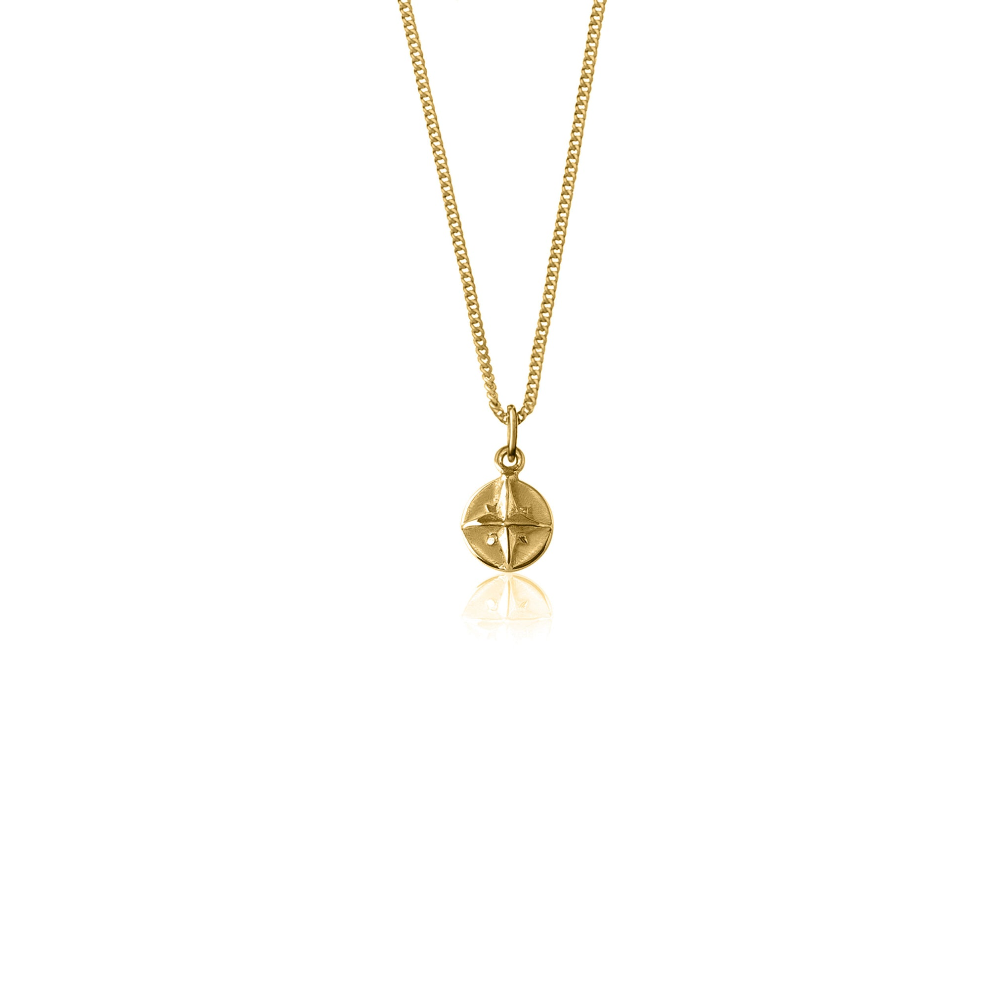 disk gold il necklace zoom listing circle fullxfull compass tiny