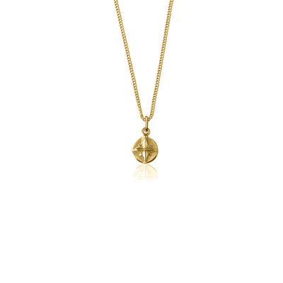 Born to Roam - Compass Necklace Gold
