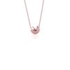 Awestruck in Luck Fortune Cookie Charm Necklace - Rose Gold