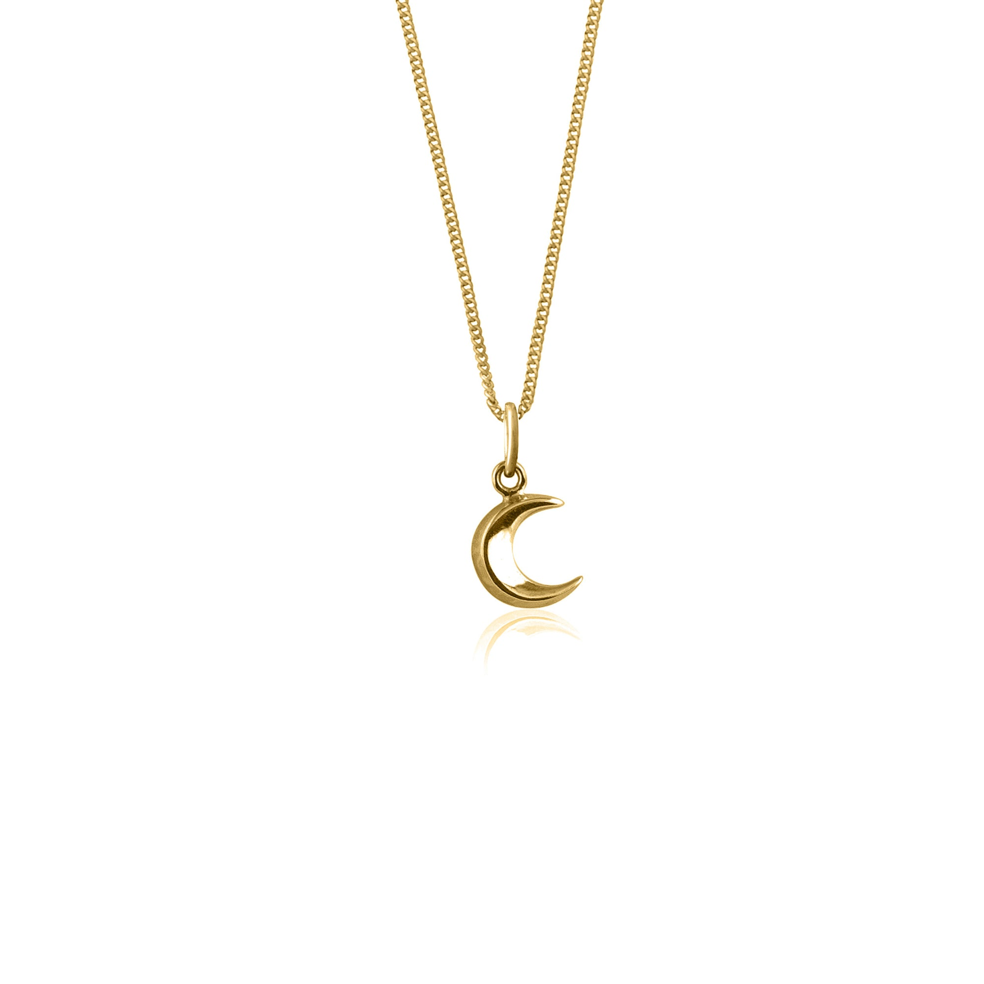 Luna & Rose - To The Moon and Back Charm Necklace in Gold
