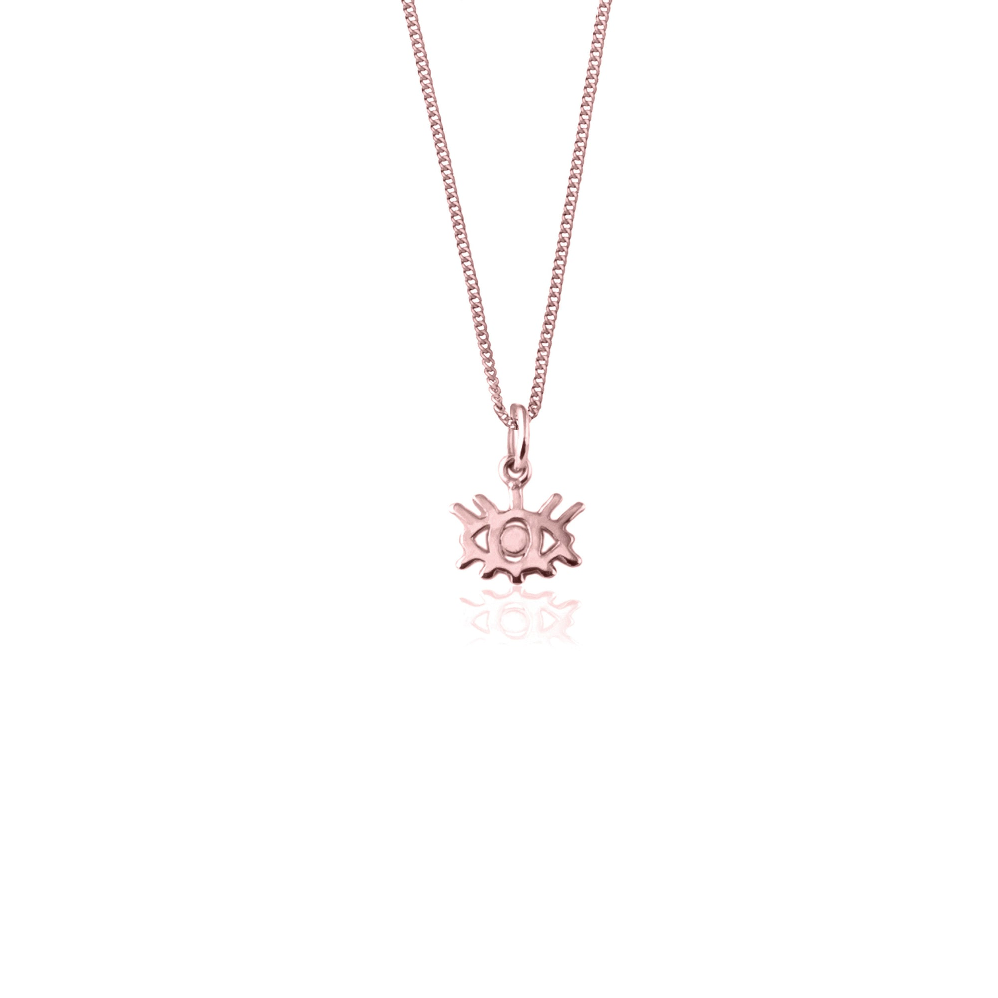 Eye Wish You Were Here Necklace (Rose Gold)
