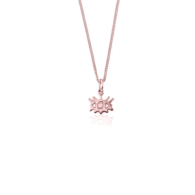 Eye Wish you were here, protective Eye Charm Necklace - Rose Gold