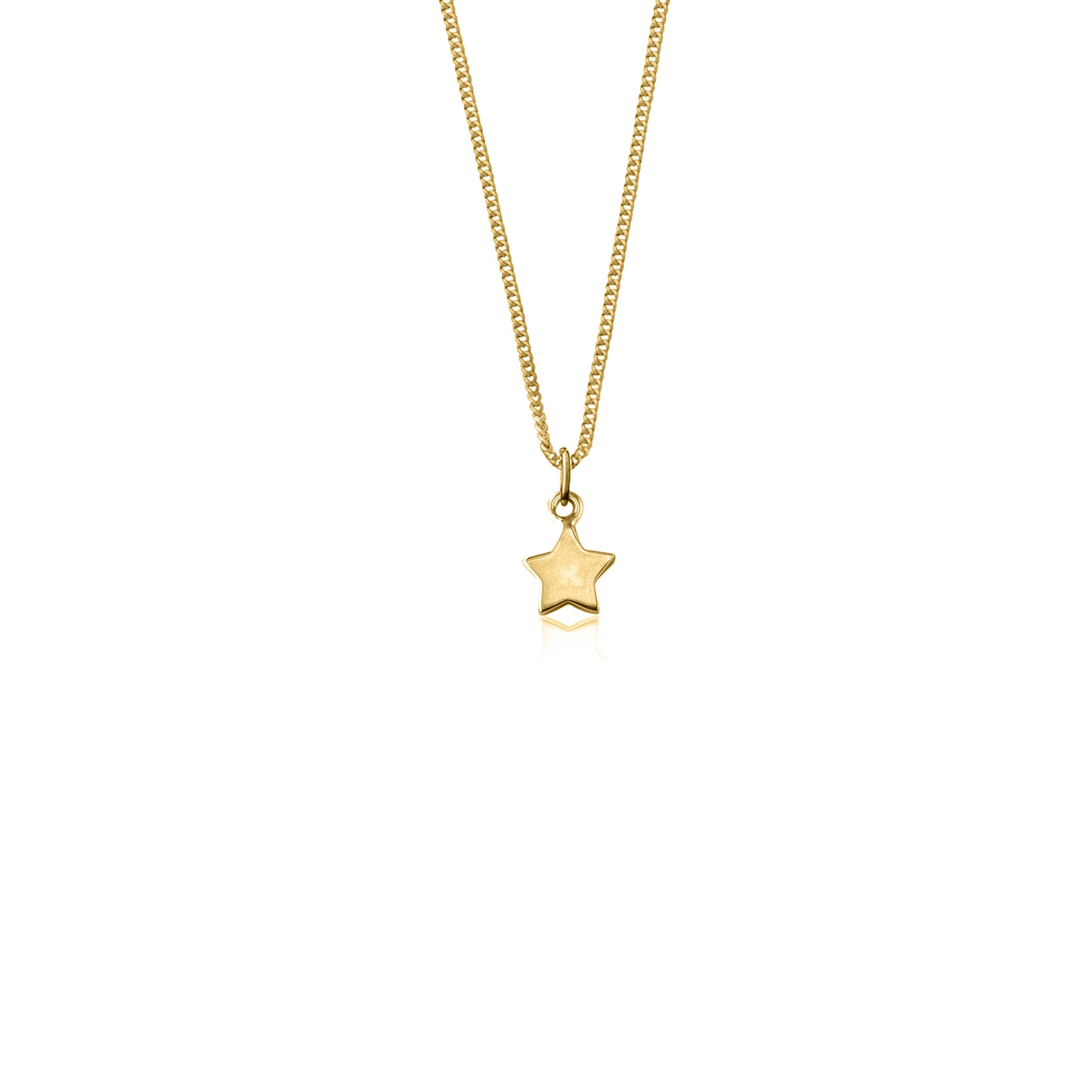Wish Upon a Star Charm Necklace - Gold