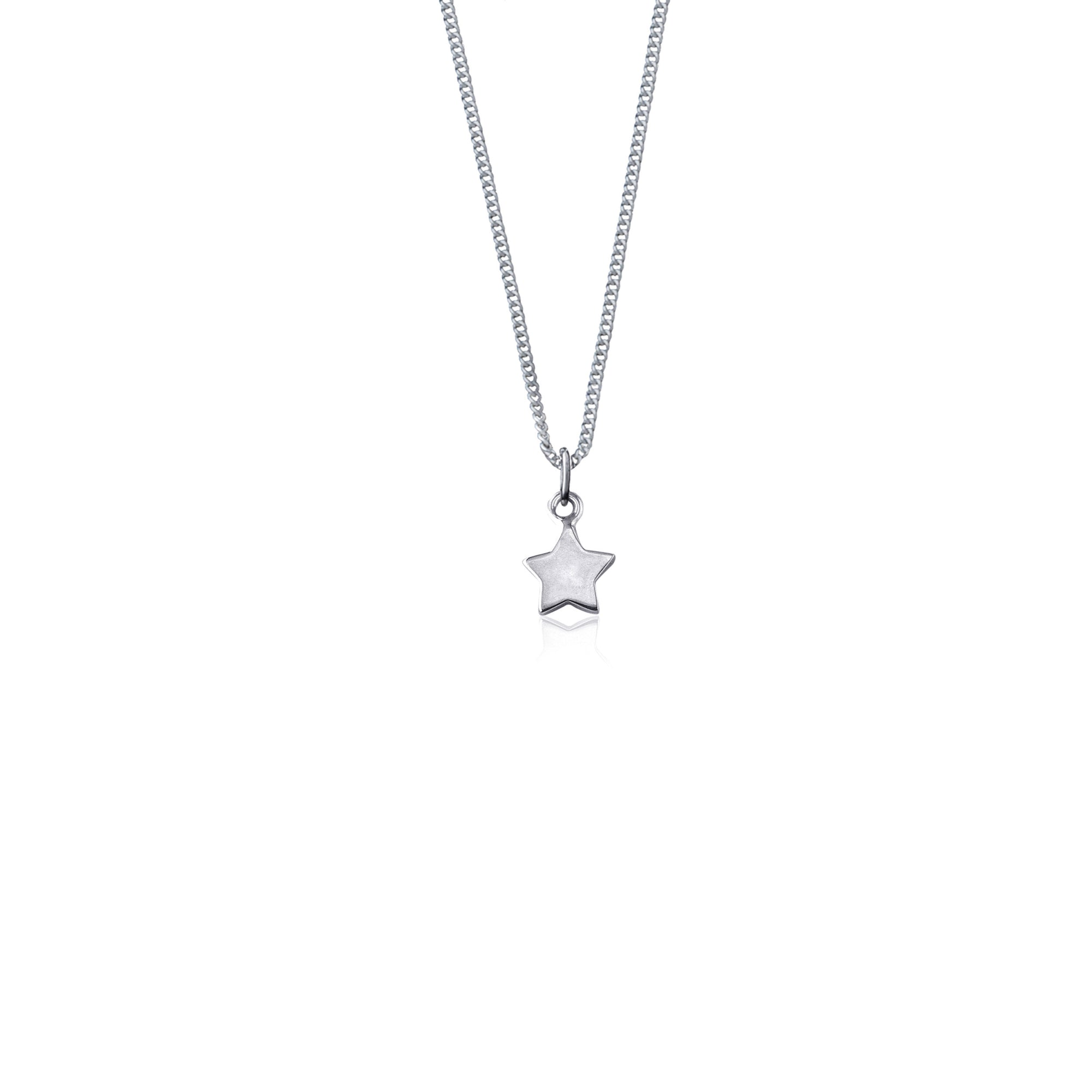 La Luna Rose 'Wish Upon a Star' Necklace - Silver