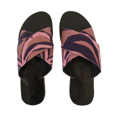 La Luna Rose Sandals in Penida Palm Print