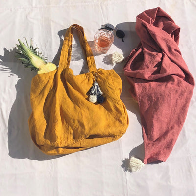 Plant Dyed Organic Tote Bag from La Luna Rose