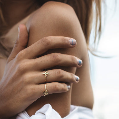 World Globe Charm and Plane Charm - Travel Inspired Jewellery