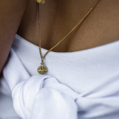 Compass Charm Necklace - Bon Voyage Collection