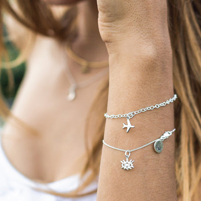 La Luna Rose Chain Bracelet with Charms