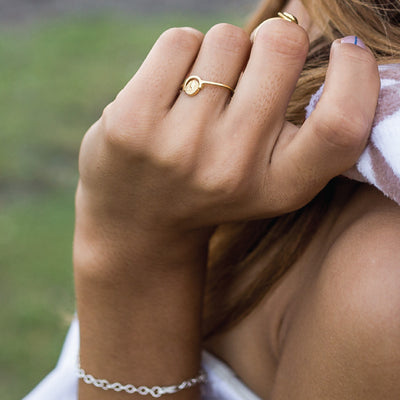 World Globe Charm - 18kt Gold