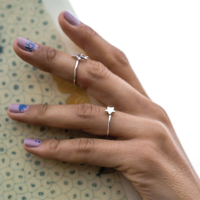 Wish Upon a Star Charm Ring - Silver