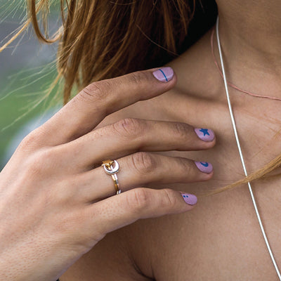 Moon and Star Rings - Bon Voyage Collection from La Luna Rose Jewellery
