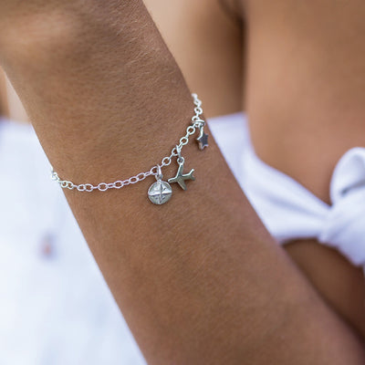 Link Chain Bracelet with Charms - La Luna Rose