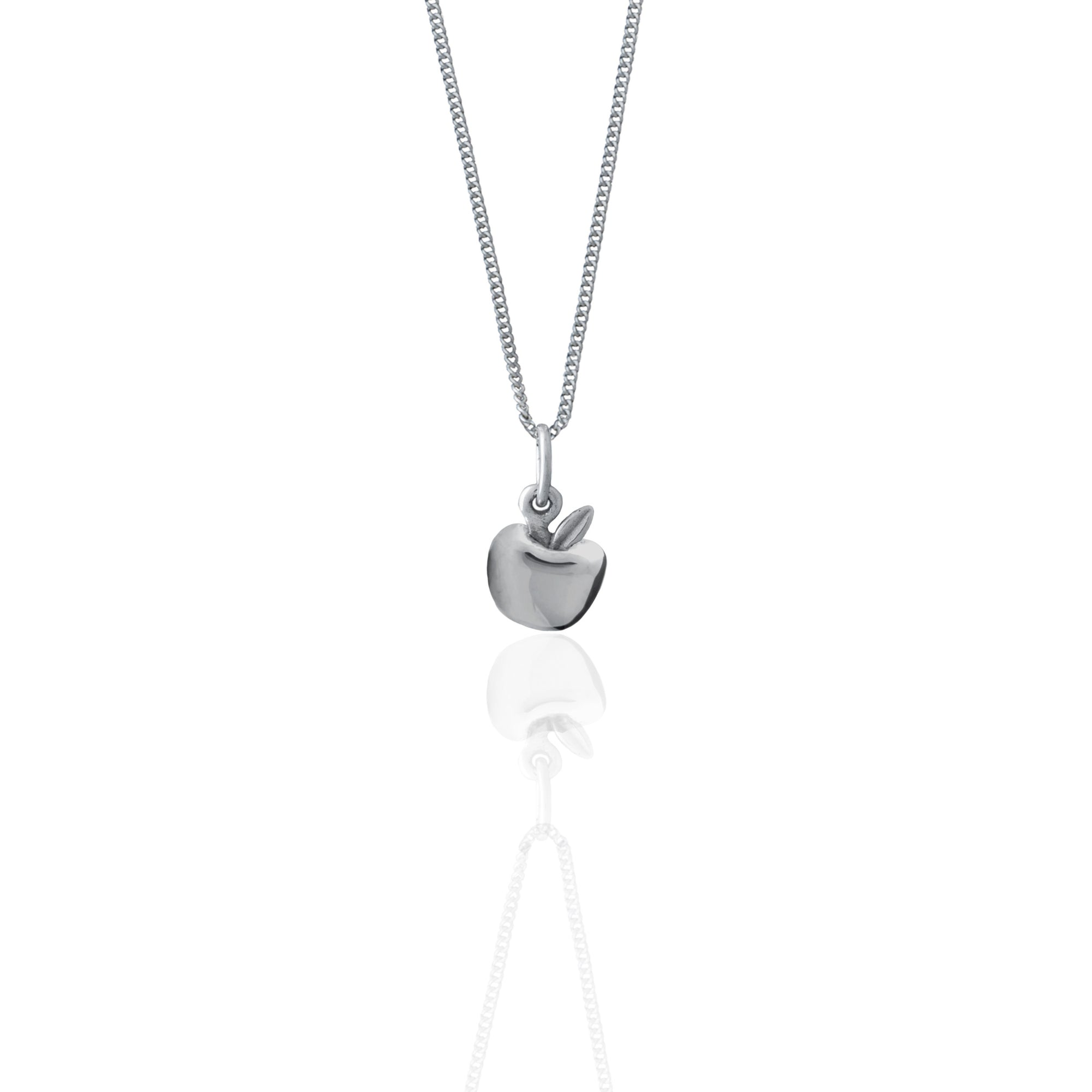 Apple of my Eye Necklace (Silver)
