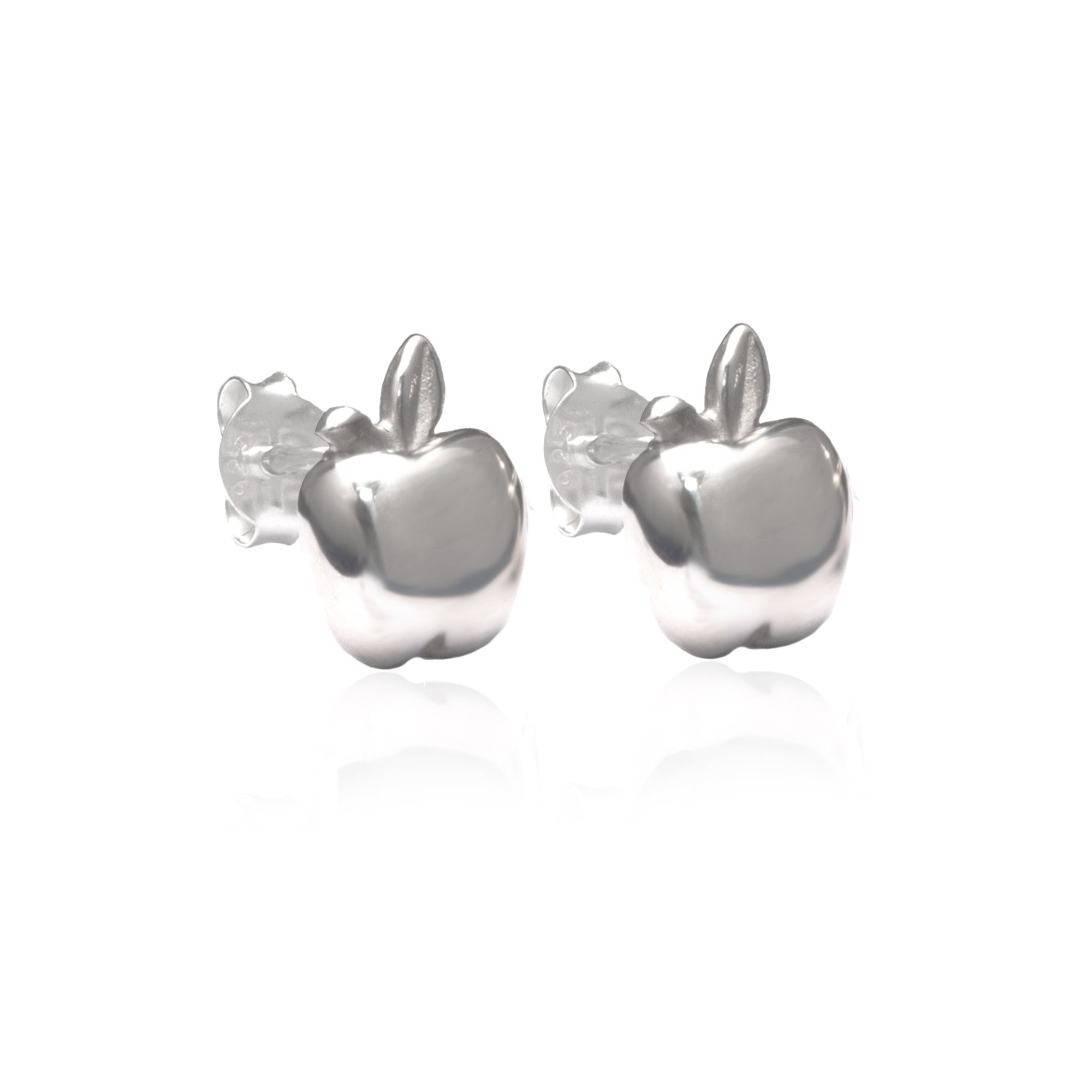 Apple of my Eye Earrings (Silver)