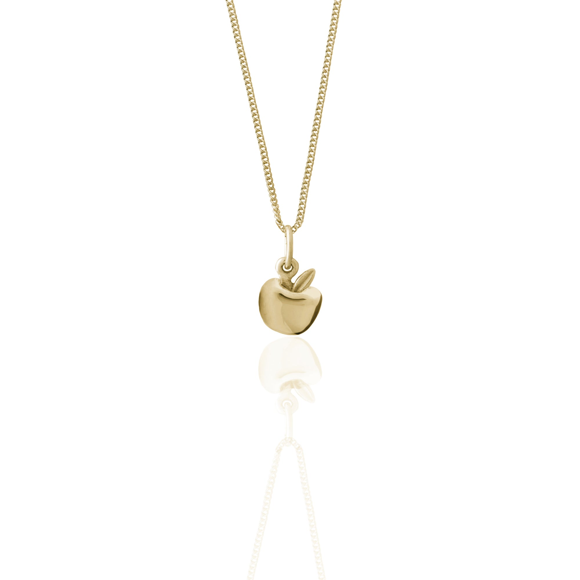 Luna & Rose - Apple of My Eye Charm Necklace - Gold