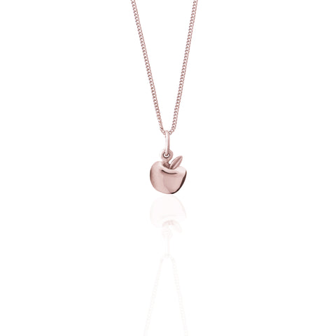 La Luna Rose Apple of My Eye Necklace - Rose Gold Charm
