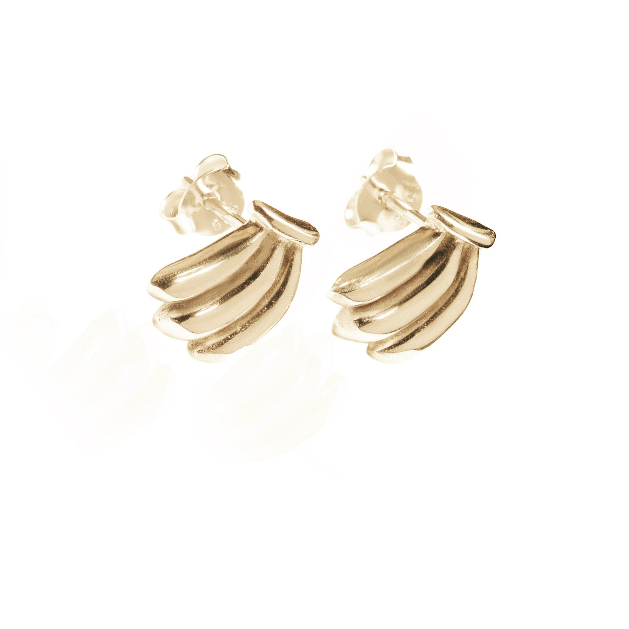 La Luna Rose Jewellery - You Drive me Bananas Earrings - Gold