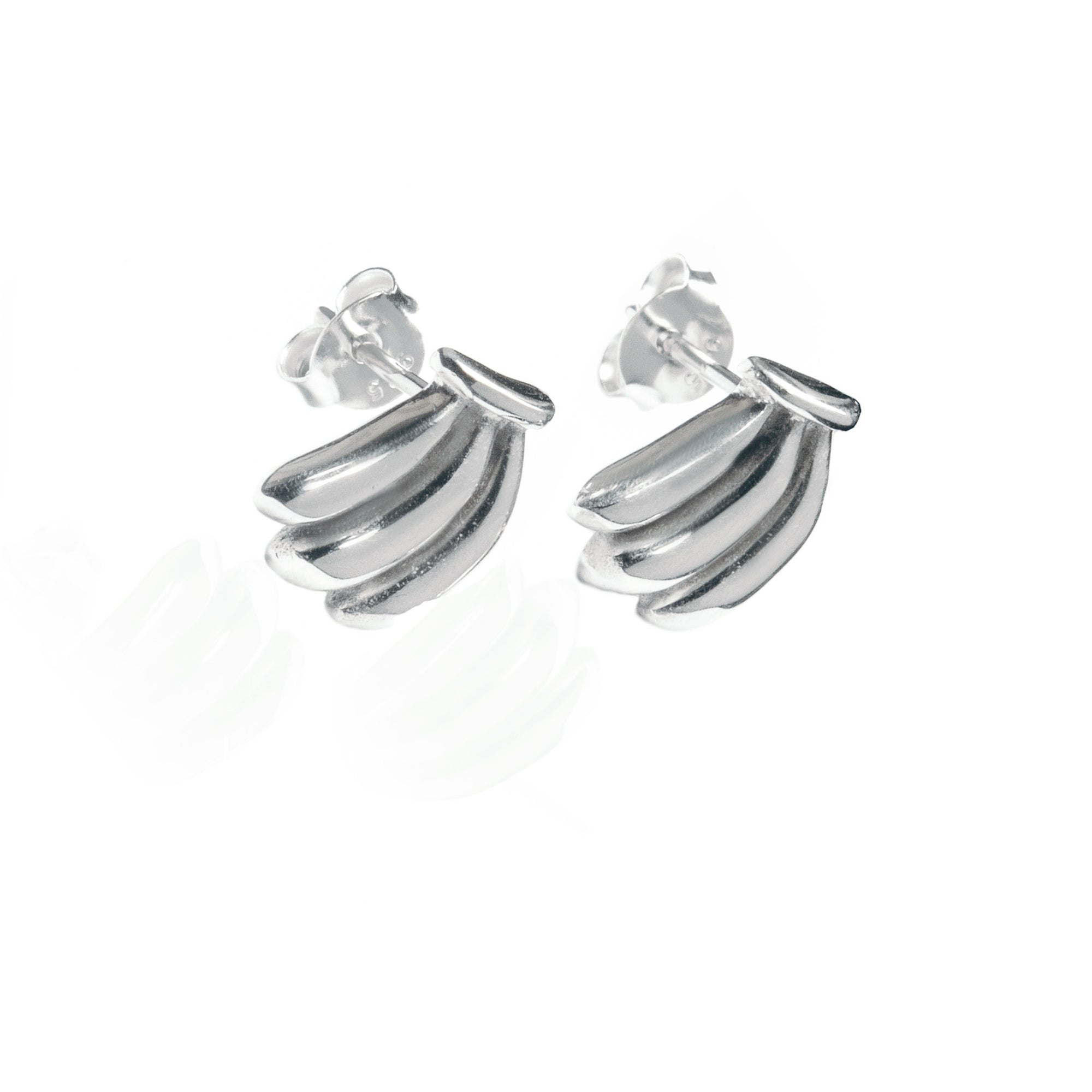 La Luna Rose Jewellery - You Drive me Bananas Earrings - Silver