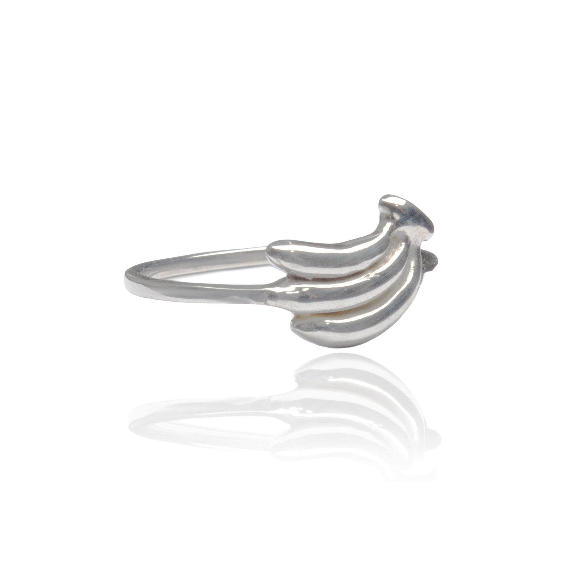 La Luna Rose Jewellery Bananas Ring Silver