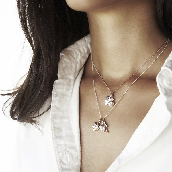 La Luna Rose Jewellery - Rose Gold Never Leaf Me Charm