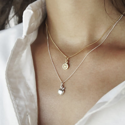 La Luna Rose Jewellery - Gold Apple of My Eye Charm