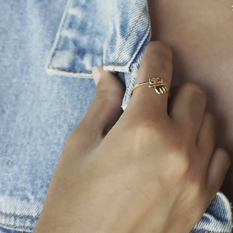 Never Leaf Me Ring (Rose Gold)